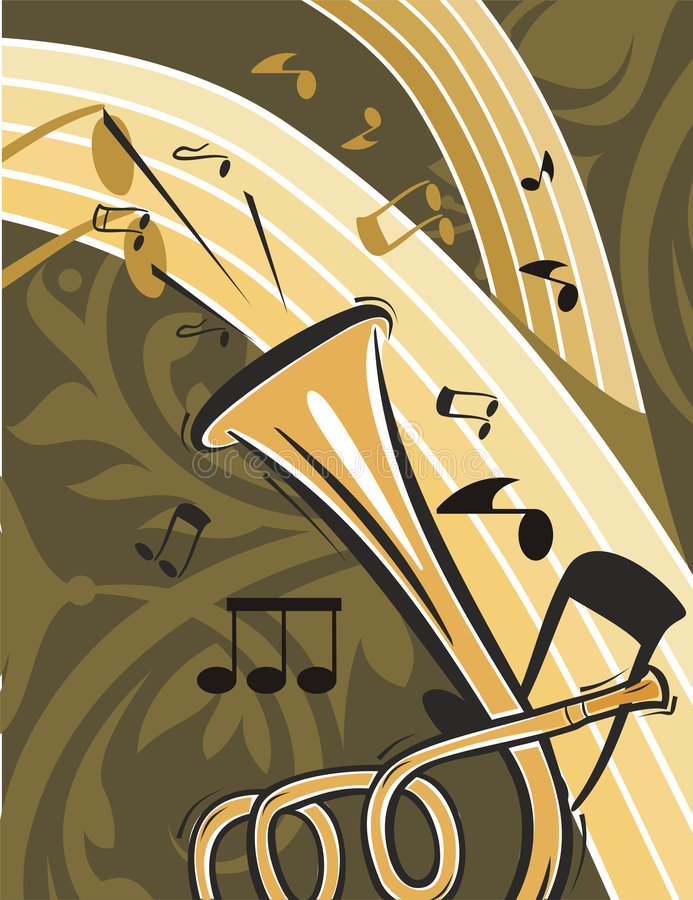 Music Instrument Background. Musical Background in Floral Style. Check my portfolio for much more of this series as well as many more similar and other great stock illustration