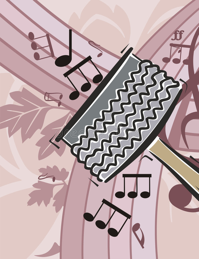 Music Instrument Background royalty free illustration