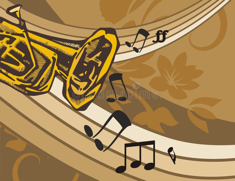 Music Instrument Background. Musical Background in Floral Style. Check my portfolio for much more of this series as well as many more similar and other great royalty free illustration