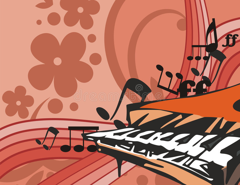 Music Instrument Background with piano vector illustration