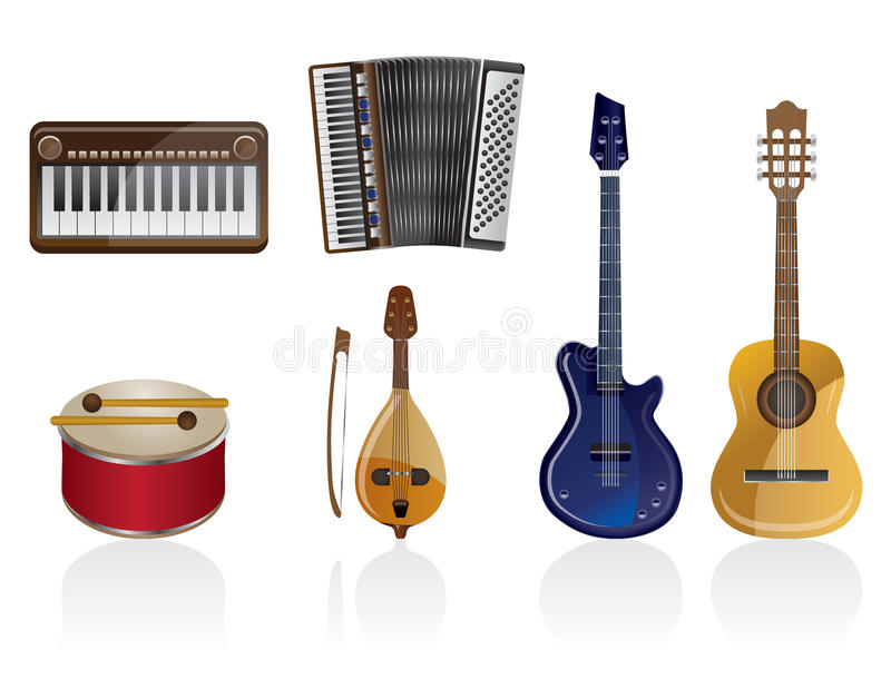 Download Music instrument Icons stock vector. Image of object - 10080663