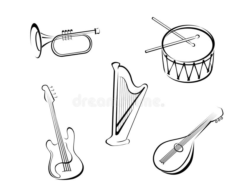 Download Music instruments stock vector. Image of icon, elegance - 18196663