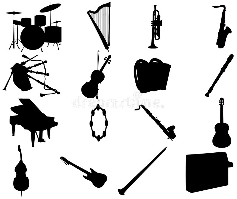 Download Music instruments stock vector. Image of classic, band - 5507644