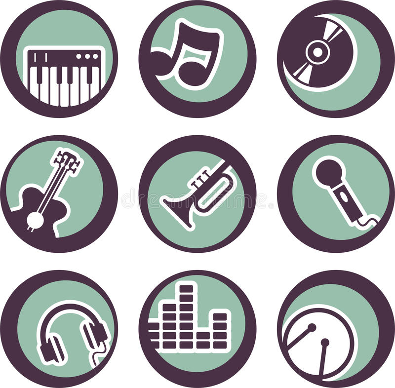 Music Instruments Design Stock Photography