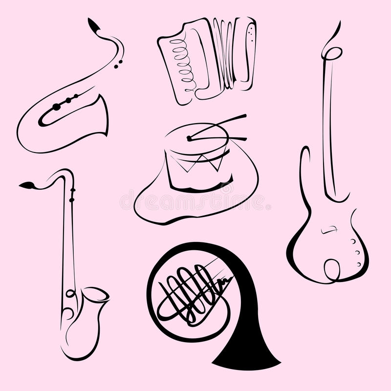 Download Music Instruments Design Set Stock Photos - Image: 9510033