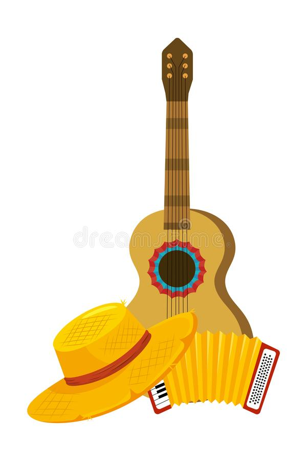 Music instruments cartoon stock illustration