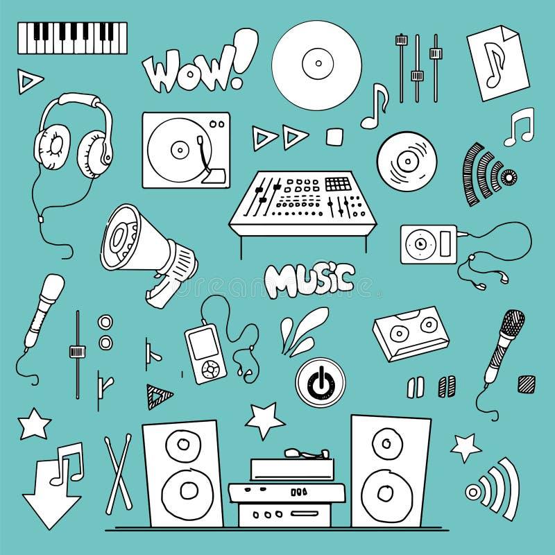Music items set royalty free illustration