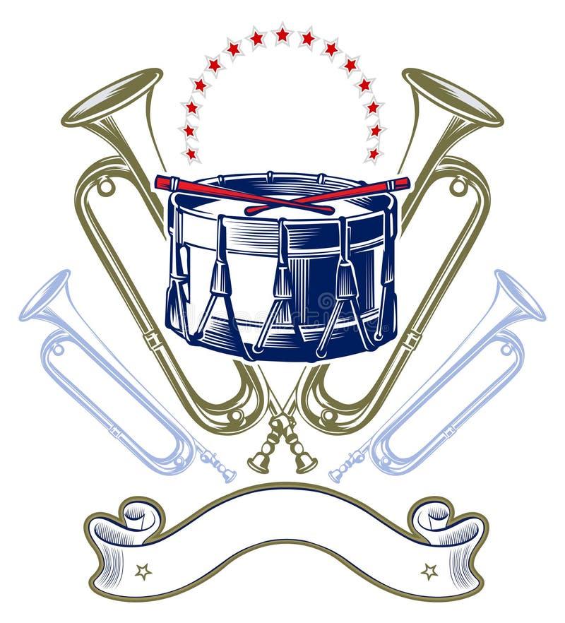 Music jazz band emblem