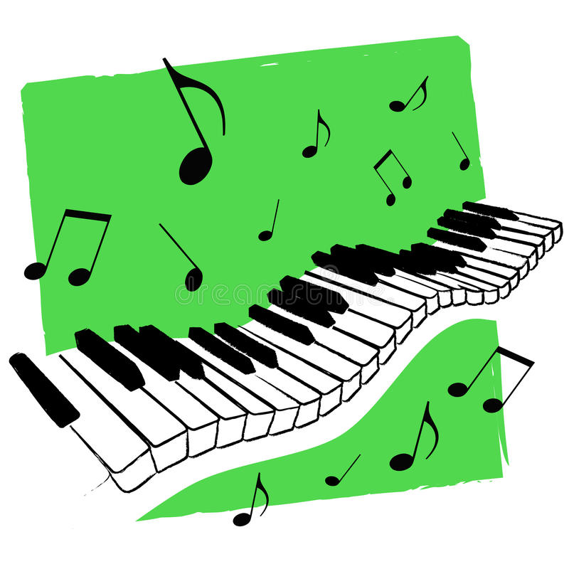 Music keyboard vector stock images