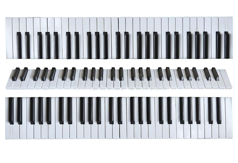 Musical keys on the white isolated background. stock image