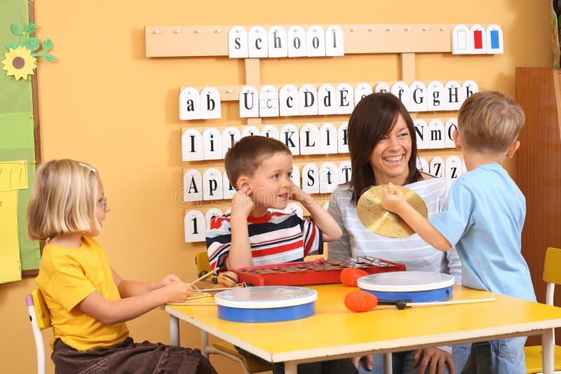 Download Music lesson stock image. Image of kindergarten, preschoolers - 3386067