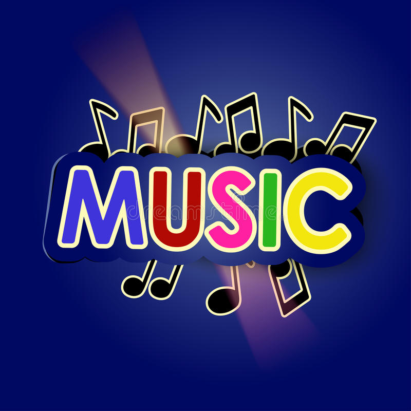 Music with lights stock illustration