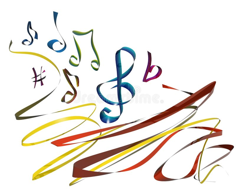 Download Music line corner stock illustration. Image of notes, music - 4617990