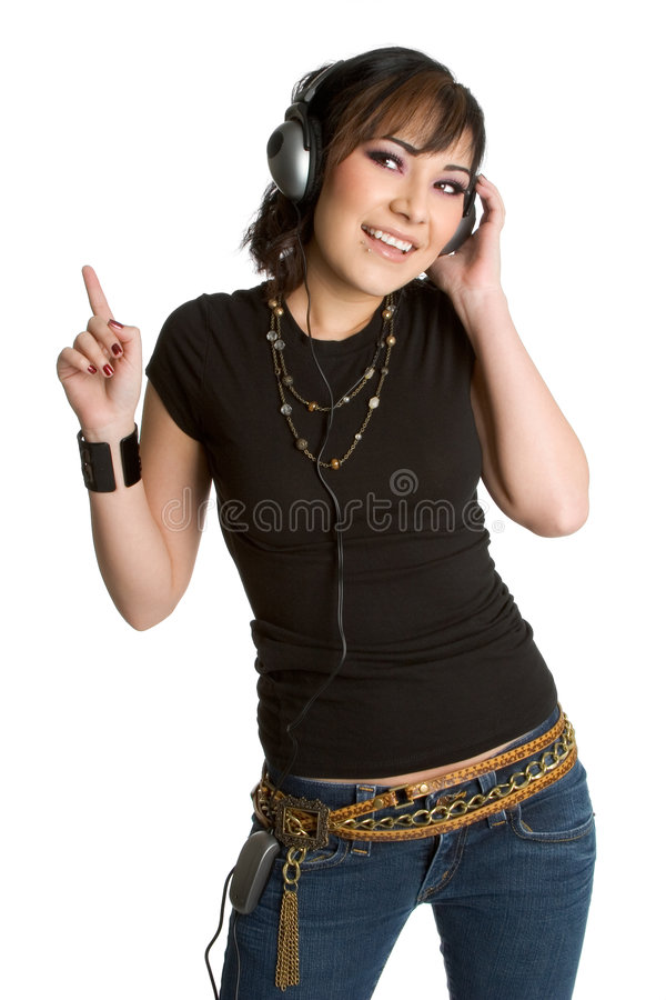 Free Music Listening Girl Royalty Free Stock Photography - 3329587