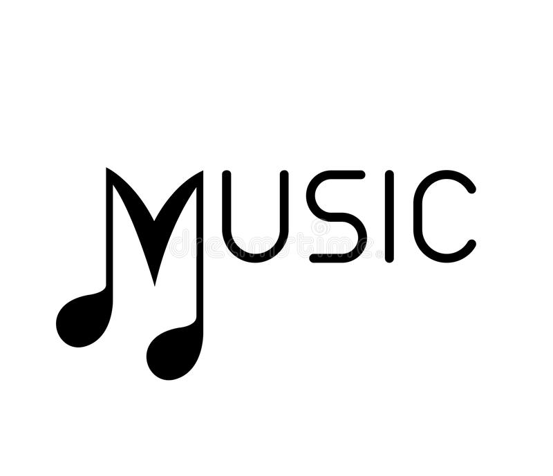 Music Logo with Note royalty free illustration