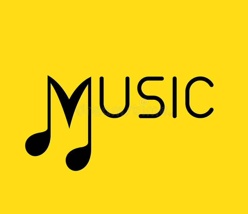 Music Logo with Note vector illustration