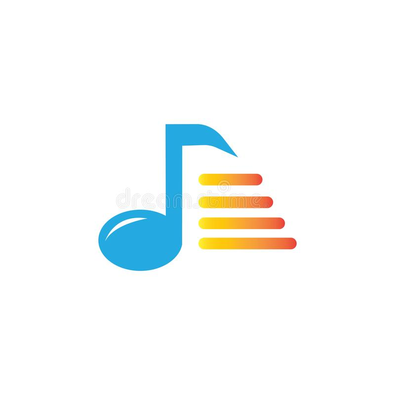 MUSIC LOGO VECTOR ILUSTRATION TEMPLATE royalty free illustration