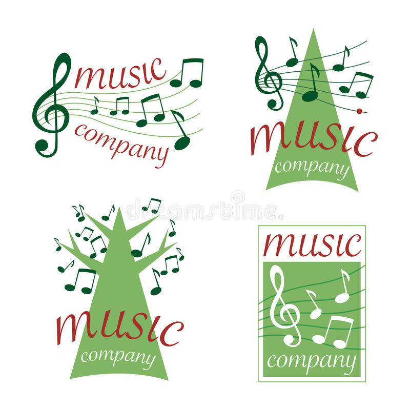 Music logos (vector) royalty free stock image