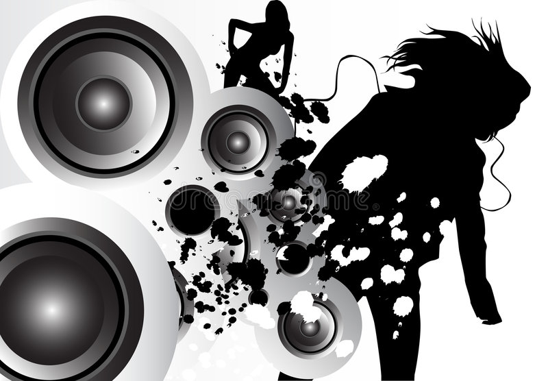 Download Music Love stock illustration. Image of person, party - 1280802