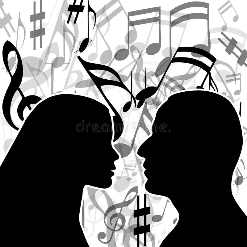 Download Music of love stock vector. Illustration of music, artwork - 17368643