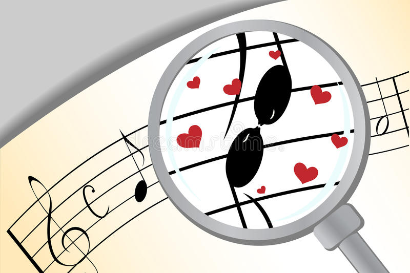 Download Music in love stock vector. Image of romantic, lovers - 18912362