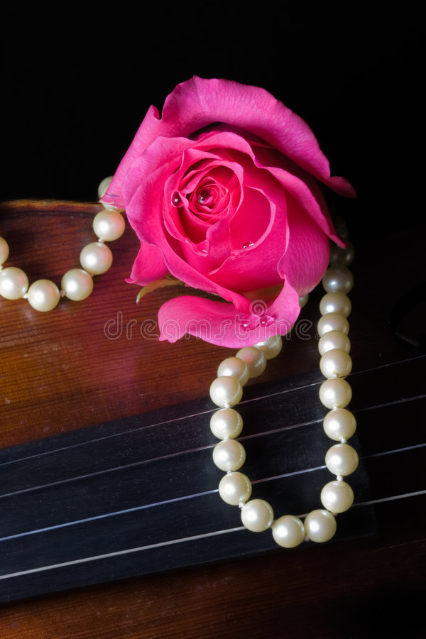 Download Music and Love stock image. Image of petal, antique, beads - 7604203
