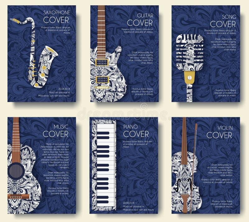 Music Magazine Layout Flyer Invitation Design  Set Of Musical