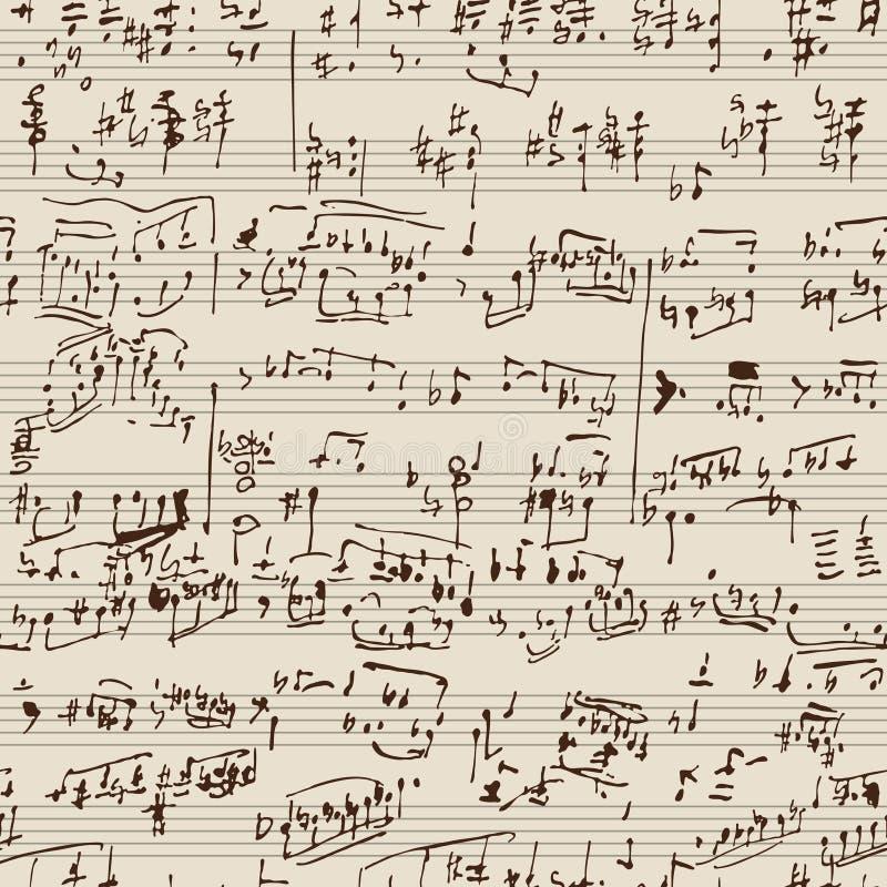 Music manuscript stock illustration