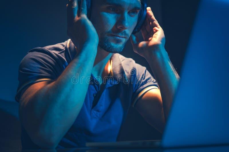 Music Mastering Job stock images