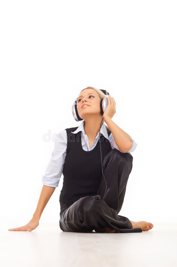 Download Music and me stock image. Image of listen, portrait, fingers - 4573371