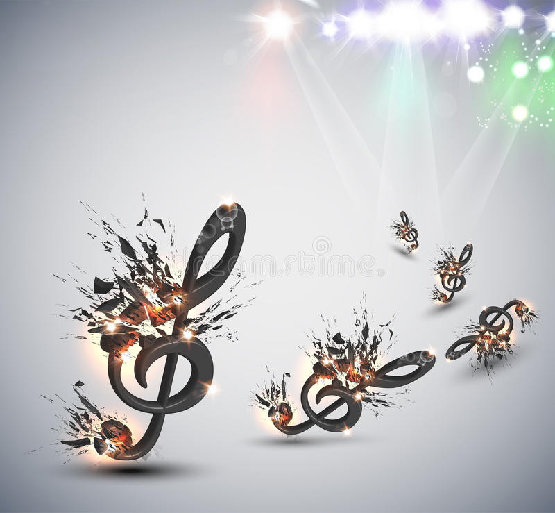 Music Melody Background Stock Photography