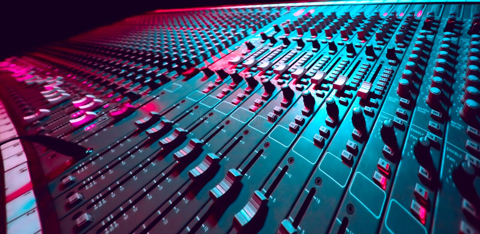 Download Music Mixer stock photo. Image of bass, discotheque, equalizer - 7996078