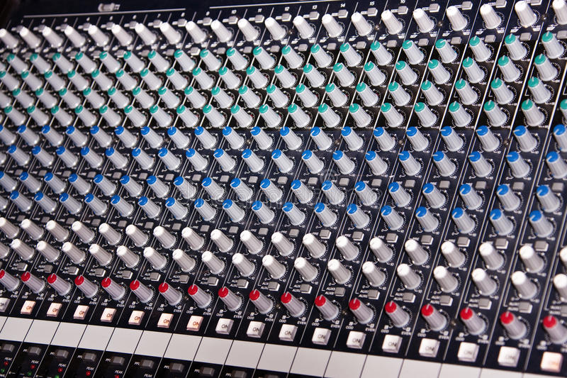 Download Music mixer amplifier stock photo. Image of amplifier - 10381560