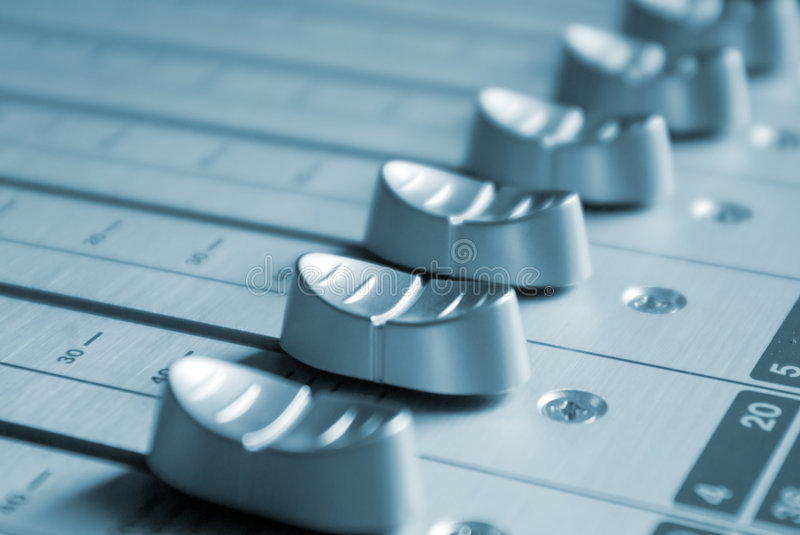 Download Music mixer faders stock image. Image of faders, broadcast - 3492555