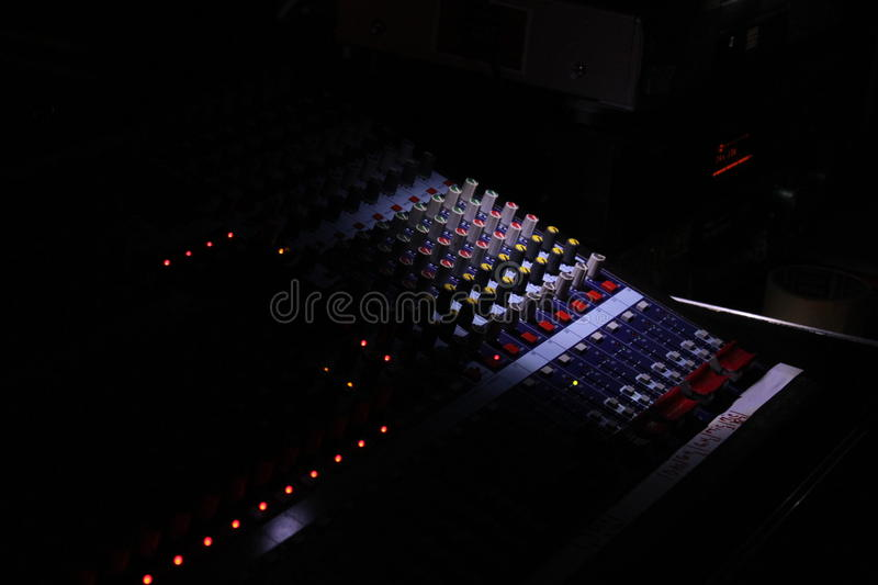 Download Music mixer darkling stock photo. Image of fader, lights - 31867550
