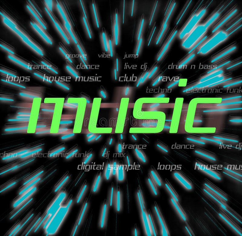 Music Montage royalty free illustration