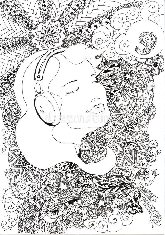 Music in my heart stock illustration