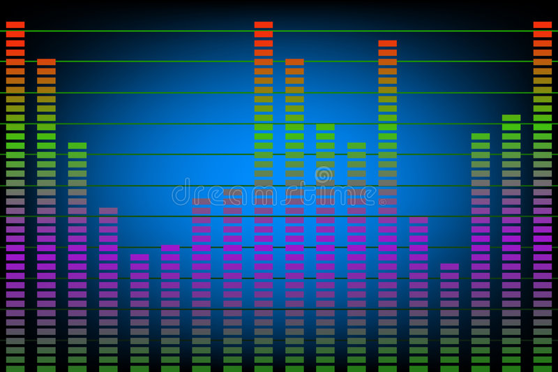 Download Music or Noise Levels stock vector. Image of green, differences - 7041988