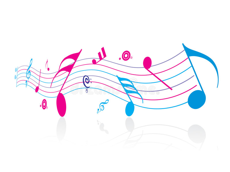Music note. White background with Music note vector illustration