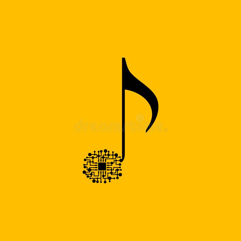 Music note as a chip stock illustration