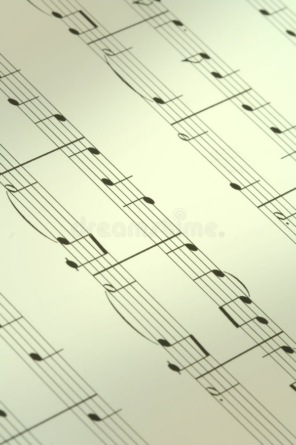 Music note background stock photography