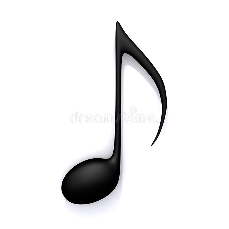 Music note 3d illustration vector illustration
