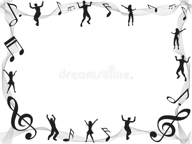 Music Note Frame With Copyspace Stock Vector - Illustration of ...