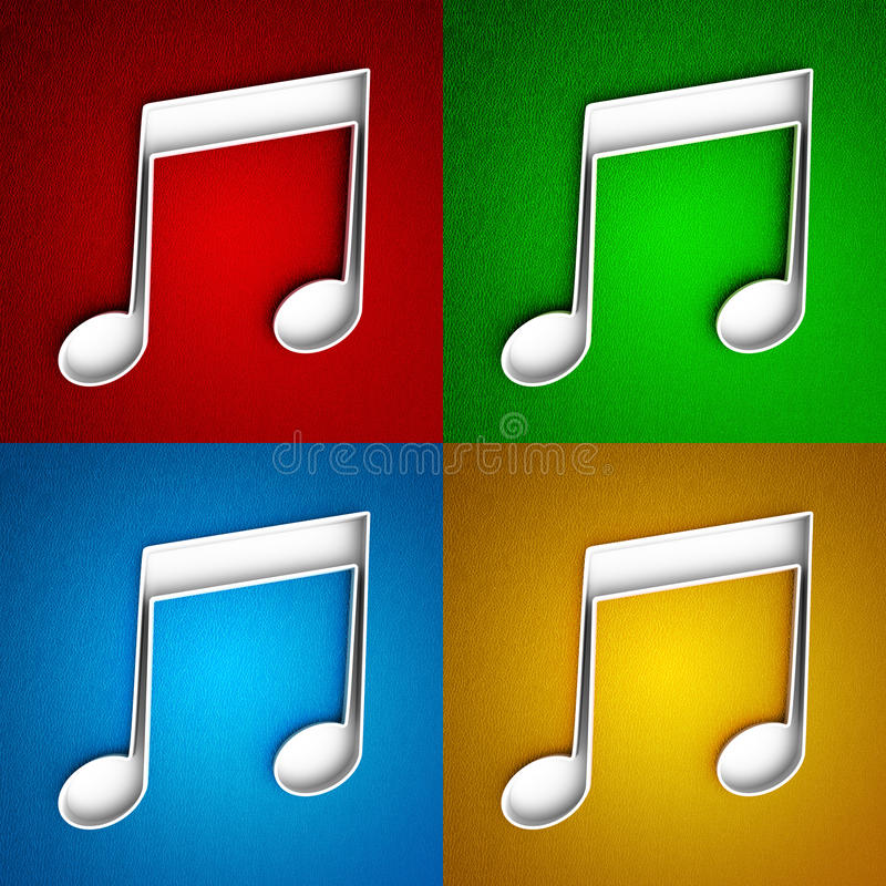 Musical Note Icon Stock Image