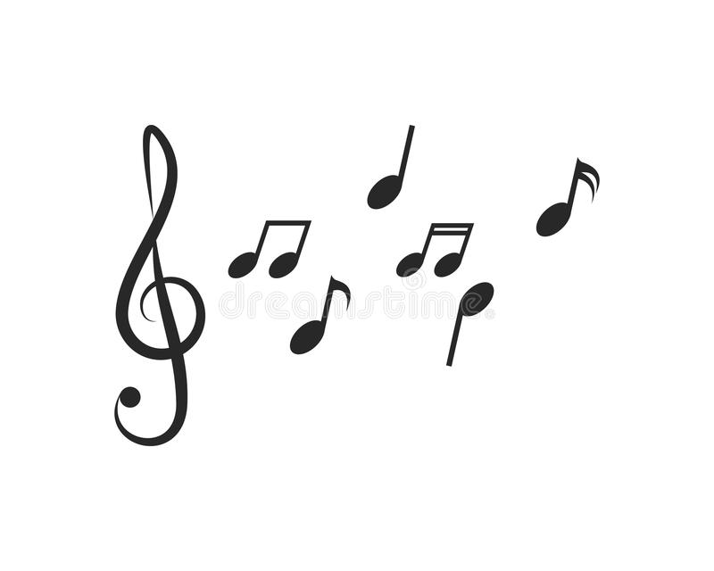 Music note Icon. Vector royalty free illustration