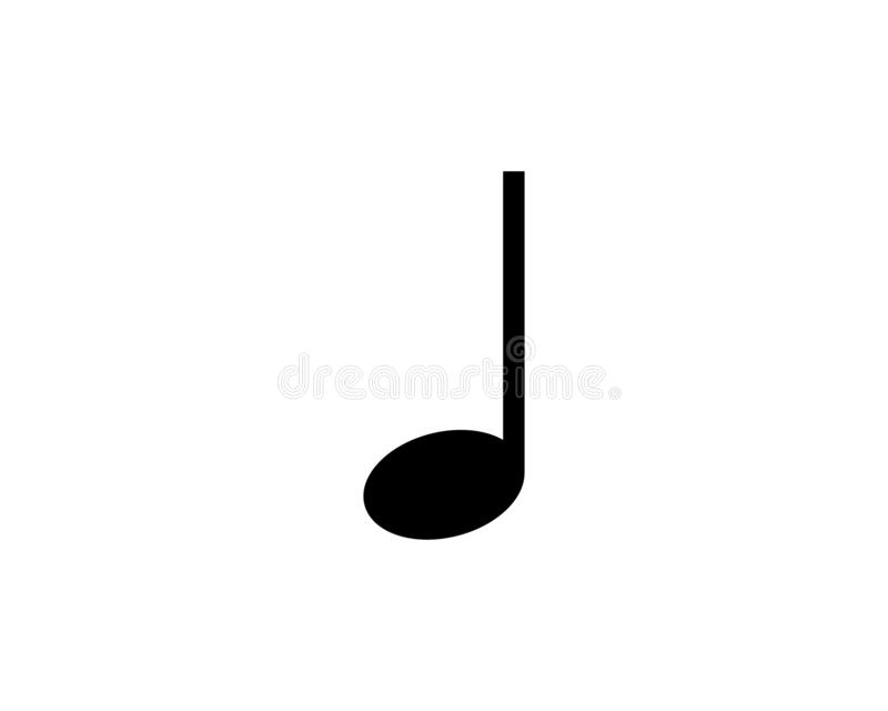 Music note Icon Vector stock illustration