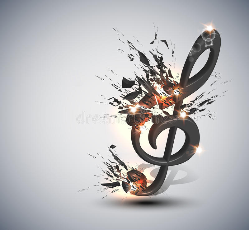 Free Music Note Melody Background Stock Image - 21976391