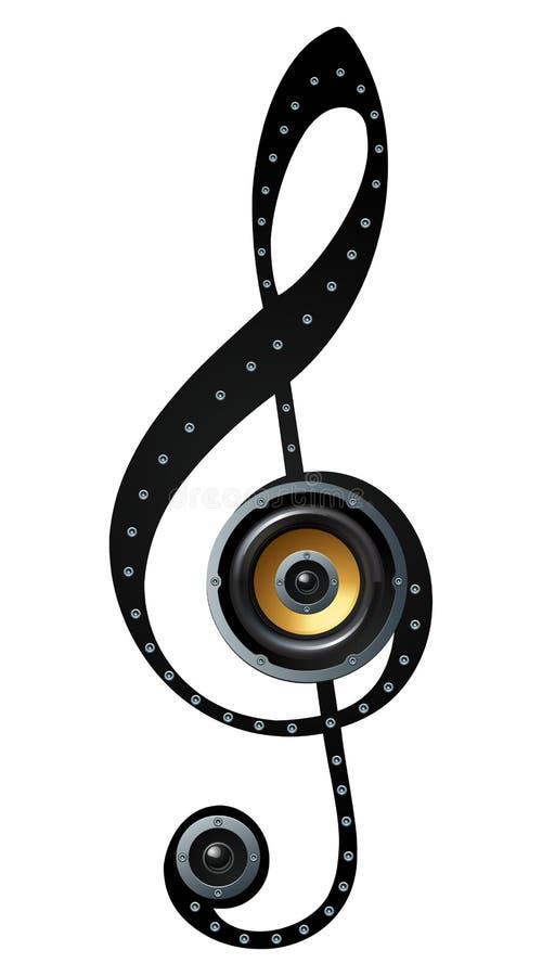 Free Music Note Speaker Symbol Stock Images - 30197314