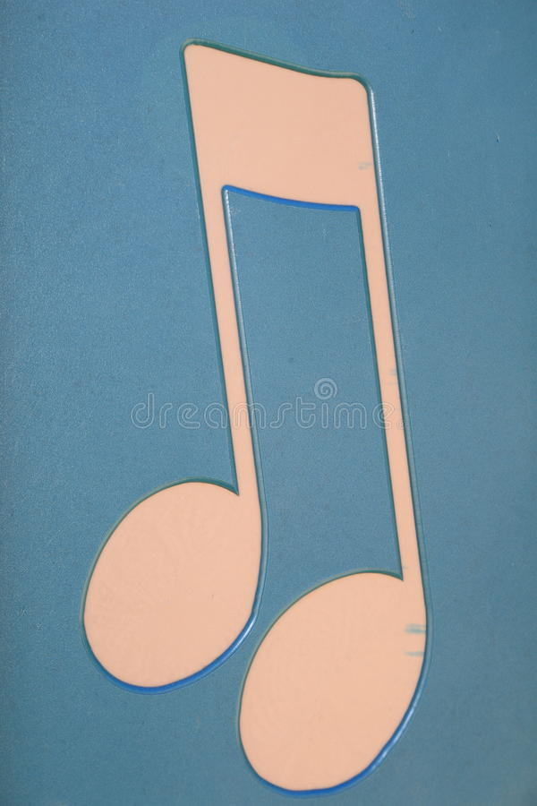 Free Music Note Symbol Art- Billboard For Modern Building Royalty Free Stock Images - 98067689
