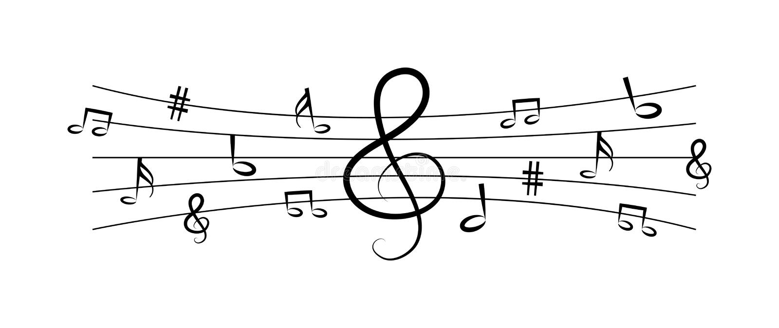 Music notes. Simple vector in music notes icon logo symbol isolated on white background vector illustration